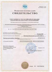 TEVY Fiscal certificate